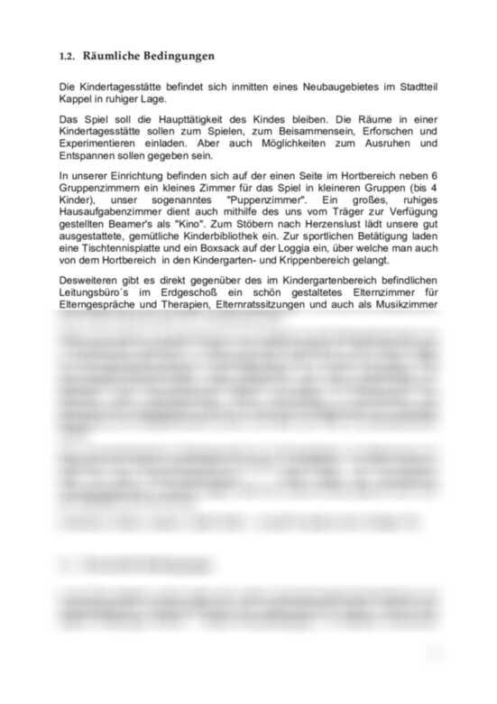 Mustervorlage Kurzfristige Planung Erzieherspickzettel De