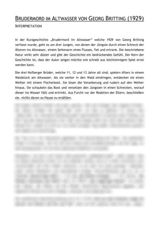 Brudermord Im Altwasser Pdf : brudermord im altwasser von georg britting inhaltsangabe ~ A.2002-acura-tl-radio.info Haus und Dekorationen