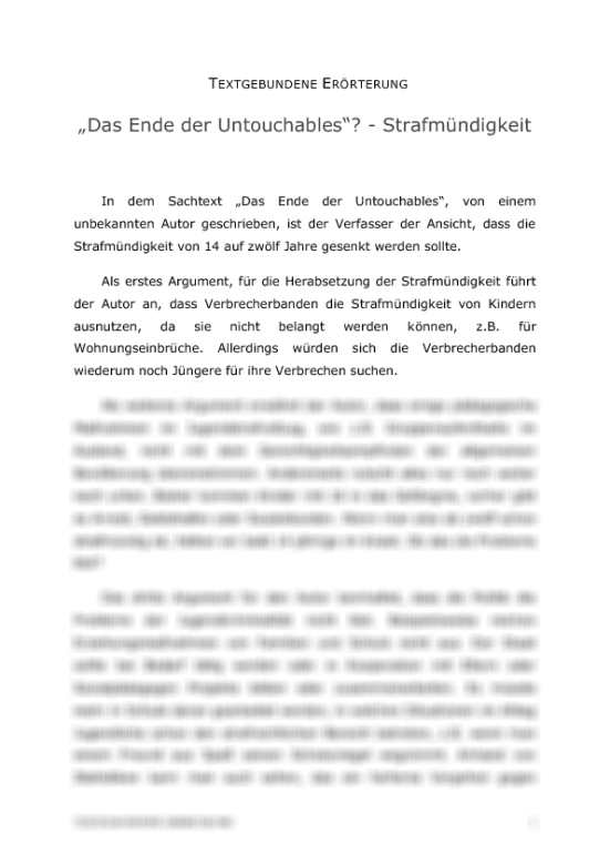 Eine Textgebundene Erorterung Richtig Aufbauen Und Schreiben