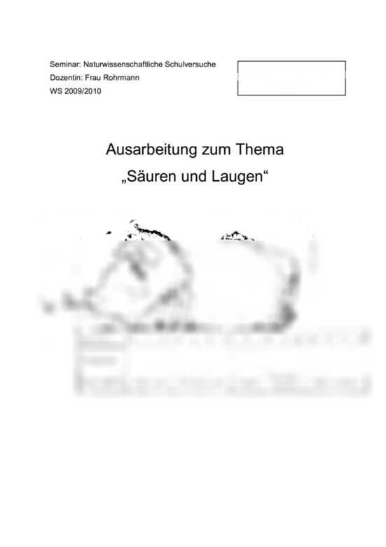 Säuren, Laugen, Salze: Neutralisation am Beispiel ...