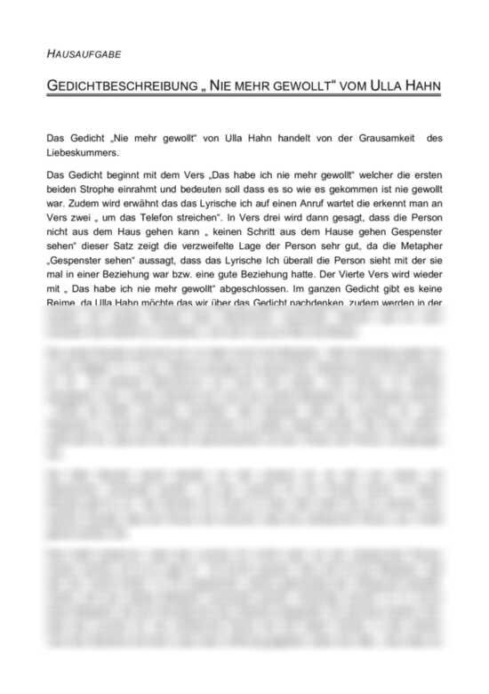 Interpretation: Bildlich gesprochen - Ulla Hahn