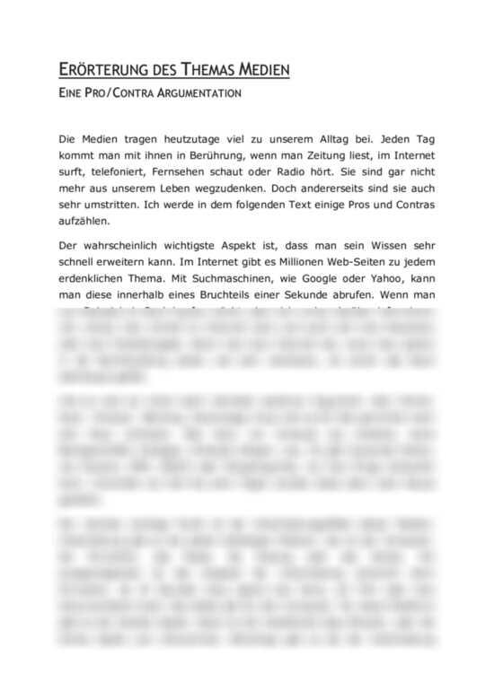 Beispiel Argumentation Deutsch 9 Klasse By Amandabhie Issuu