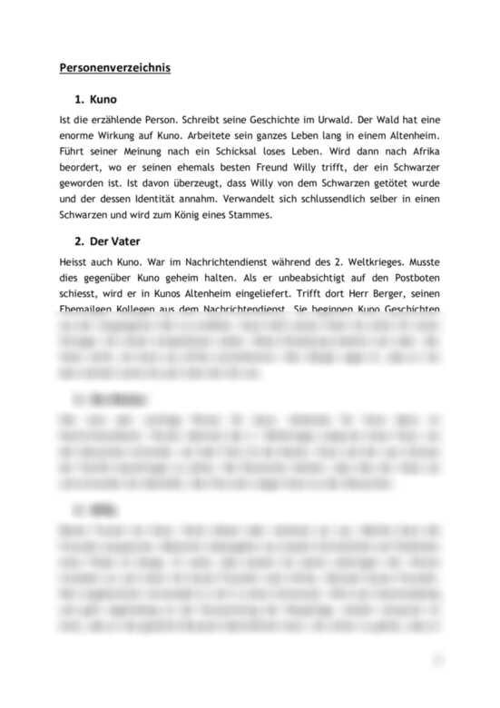 Urs Widmer Im Kongo Interpretation Interpretation