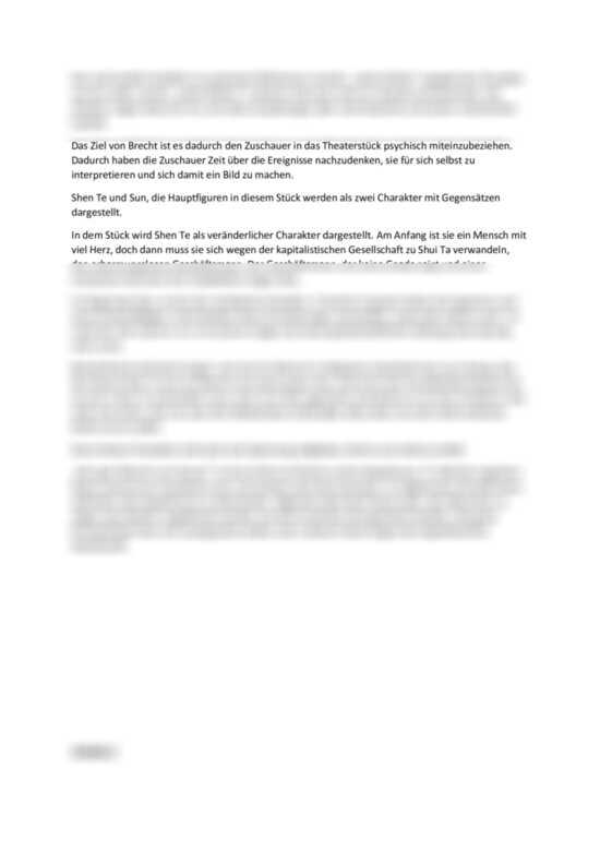 Einsendeaufgabe LitM-5 Drama: Der gute Mensch von Sezuan