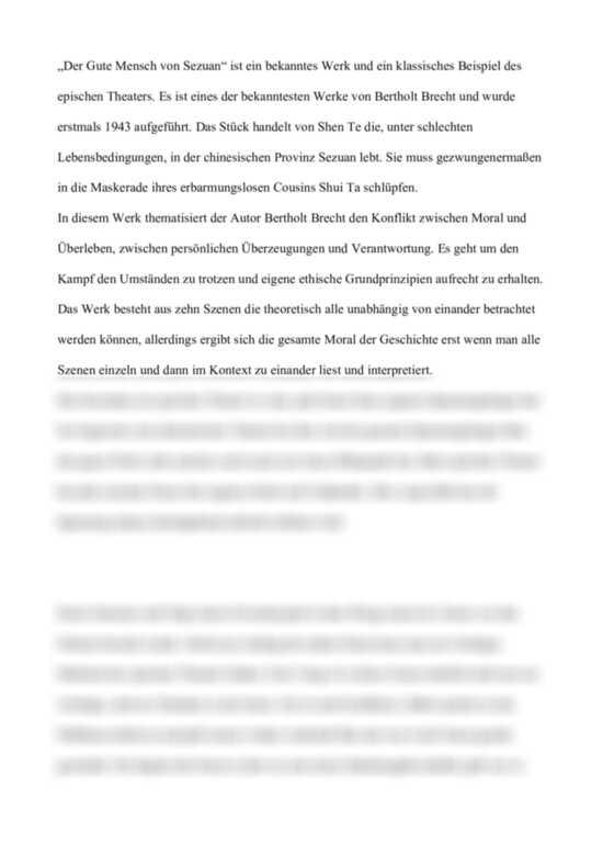 Einsendeaufgabe ILS - Analyse: Der gute Mensch von Sezuan