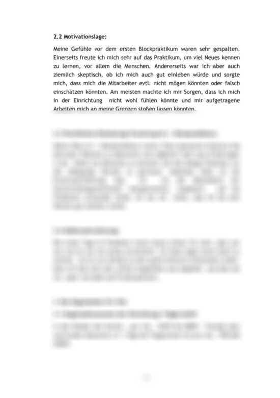 Reflexion Praktikumsbericht Muster