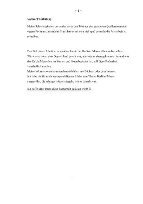 Die Geschichte Der Berliner Mauer Facharbeit Fachbereichsarbeit