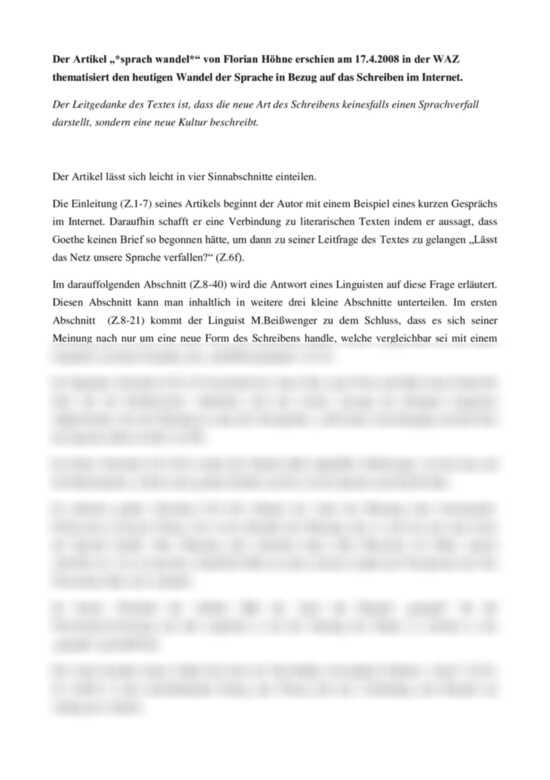 Liste Der Textanalyse Germanistik Deutsch