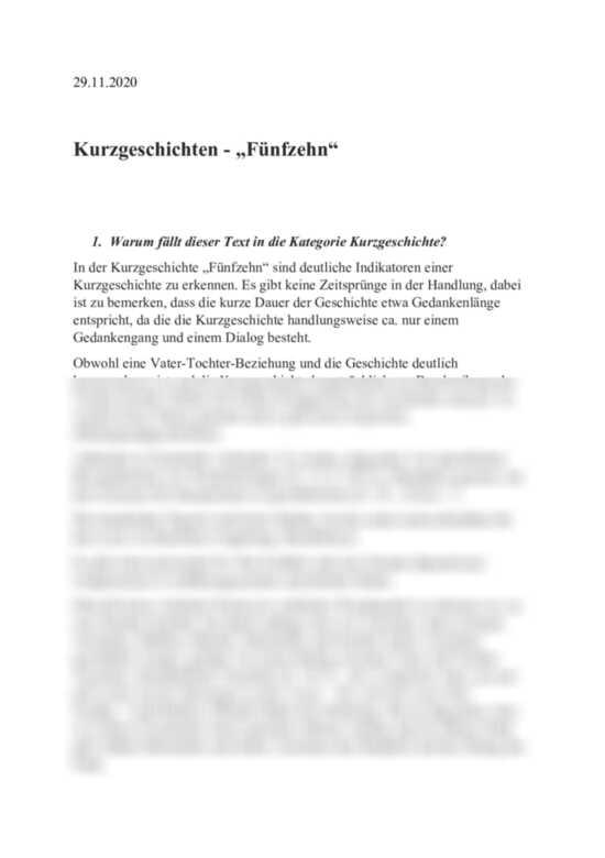 Analyse und Interpretation: Fünfzehn von Rainer Kunze