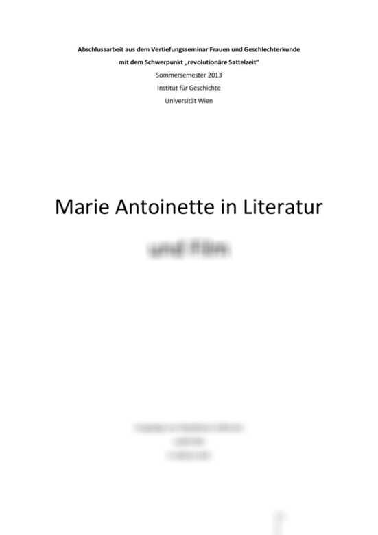 Wer War Marie Antoinette