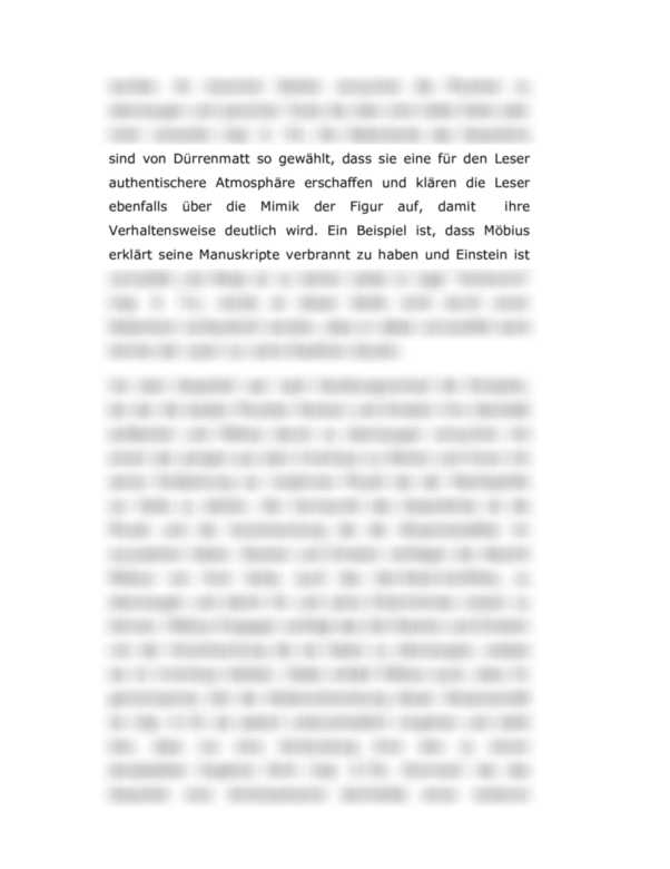 Dialoganalyse Die Physiker Von Friedrich Durrenmatt S 68 77 Interpretation