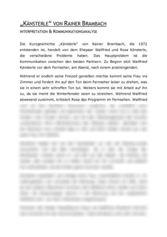 Kommunikationsanalyse Der Kurzgeschichte 8