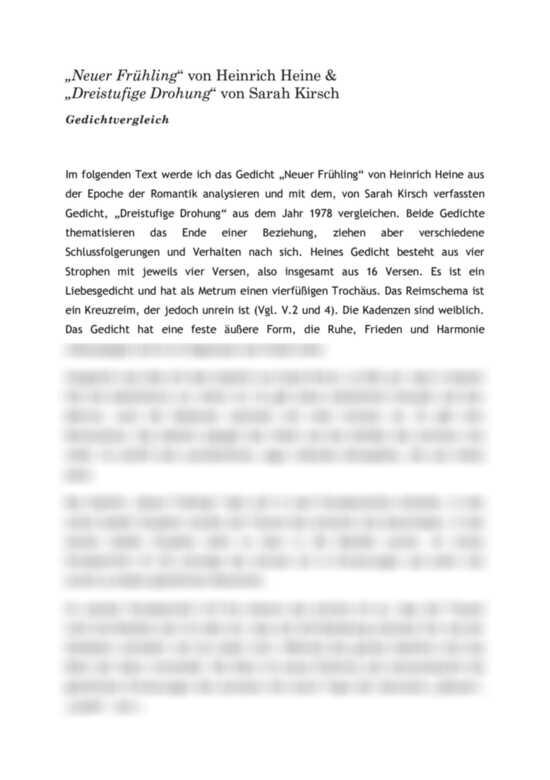 Gedichte heinrich frühling heine Heinrich Heine