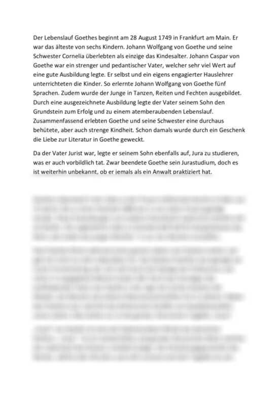 Johann Wolfgang Von Goethe Biografie Und Werke 10