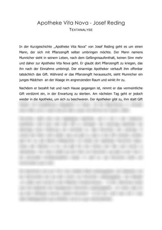 Kurzgeschichte textinterpretation Arbeitsblätter zur