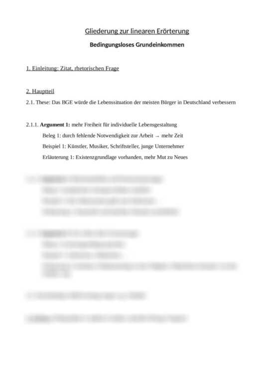 Deutsch Textproduktion Erorterung Trainingsheft 1