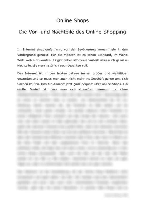Vor Und Nachteile Online Shopping