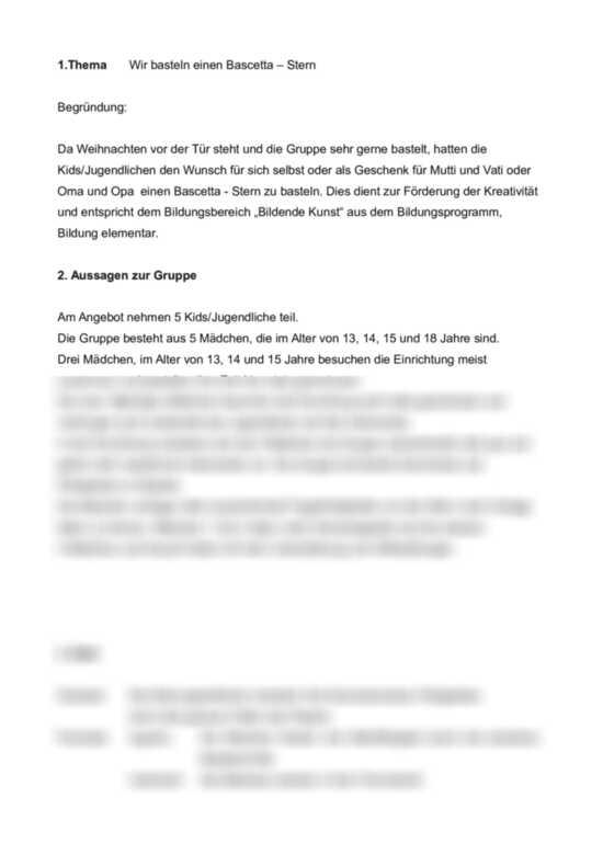 Angebotsplanung Fur Kindergarten Tannenbaumschmuck 0