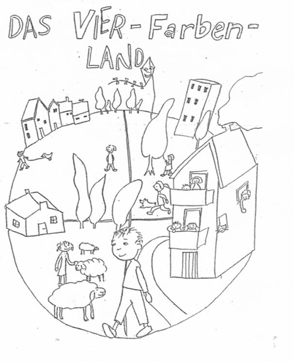 Das vier Farben Land - Arbeitsblatt Musikunterricht - Arbeitsblätter